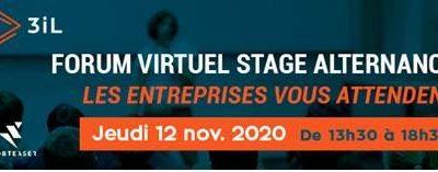 Must participe au forum virtuel des étudiants 3iL le 12/11/2020 à partir de 13h30
